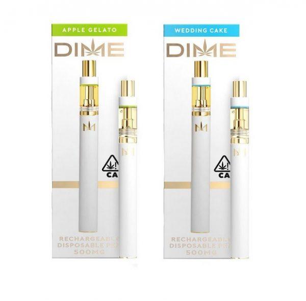 DIME Disposable Vape Pen and Cartridge Set 95% THC