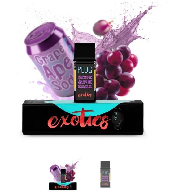 PLUGPlay Exotics Grape Ape Vape Cartridge UK