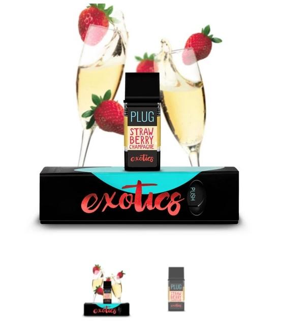 PLUGPlay Exotics Strawberry Champagne Vape ZA